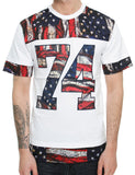 Switch American Flag T-Shirt SSK5183 White