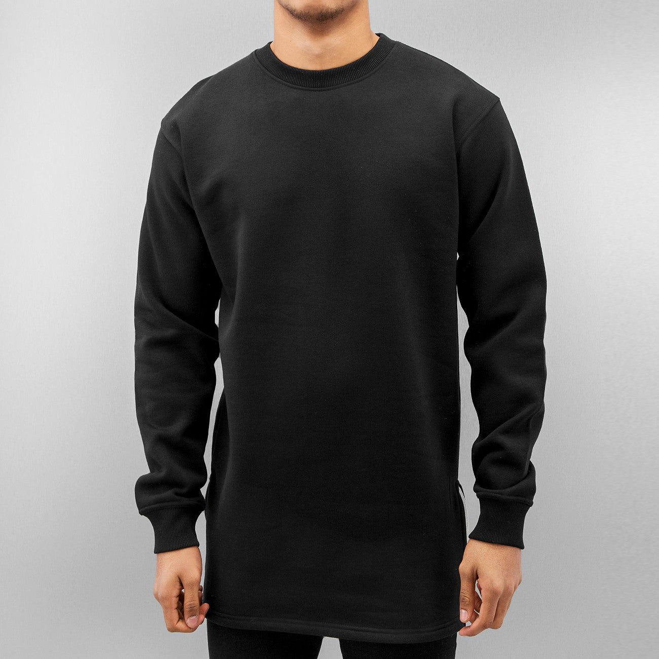 Just Rhyse Long Sweatshirt  Black
