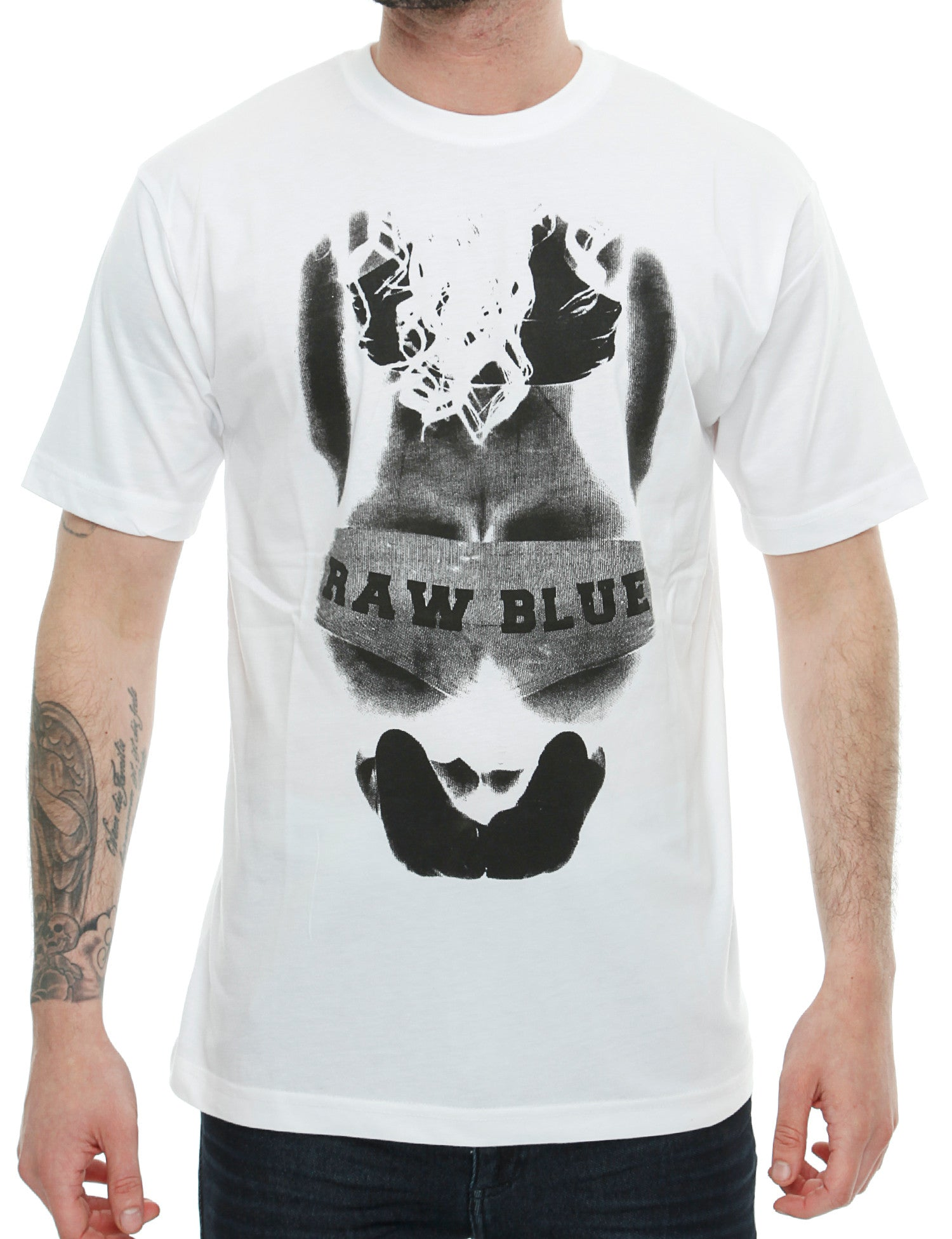 Raw Blue Big Butt T-Shirt RB16-002 White