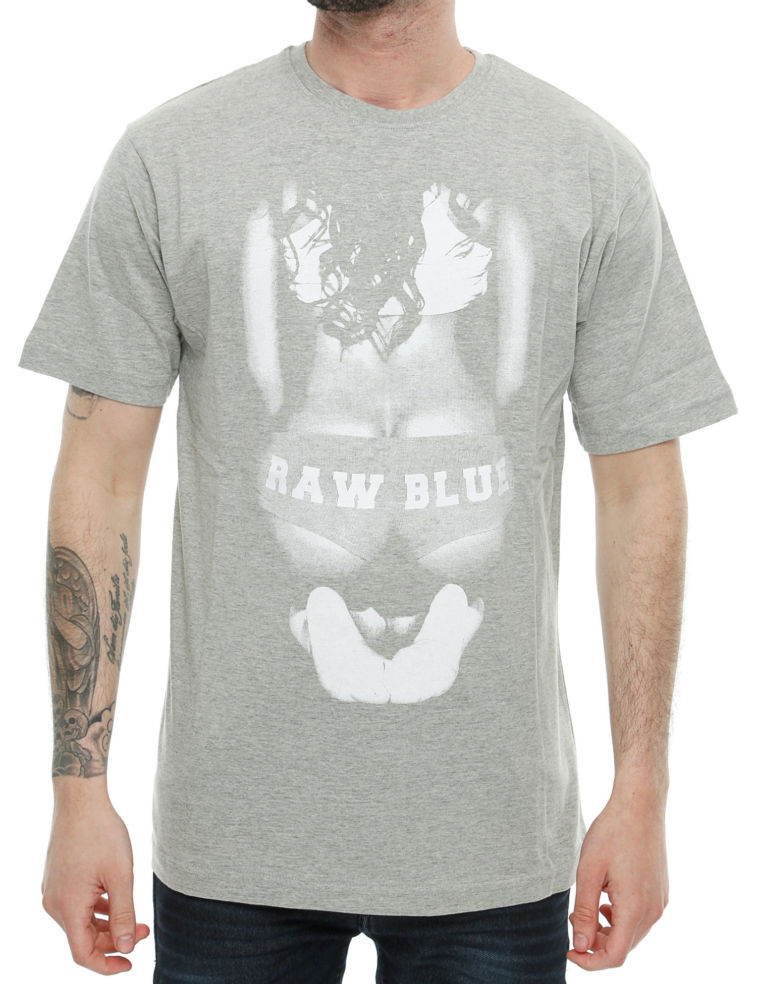 Raw Blue Big Butt T-Shirt RB16-002 Grey