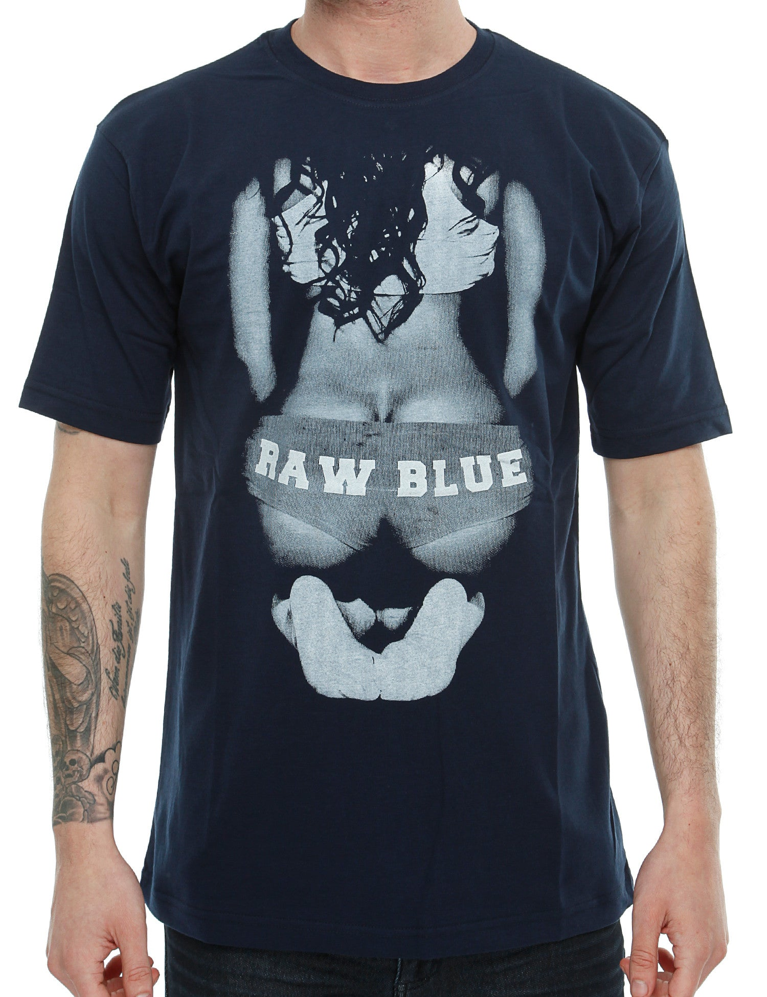 Raw Blue Big Butt T-Shirt RB16-002 Navy
