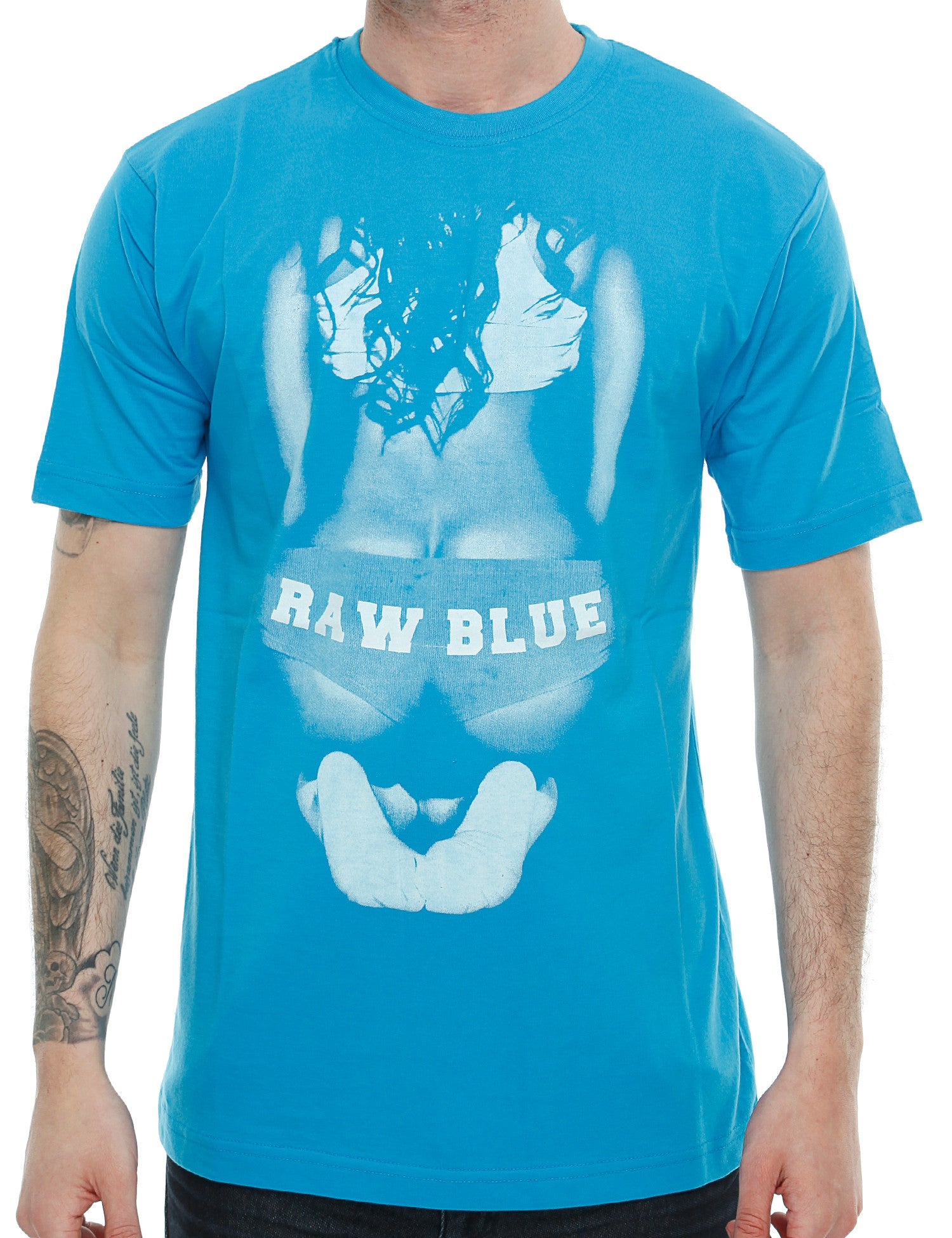 Raw Blue Big Butt T-Shirt RB16-002 Aqua