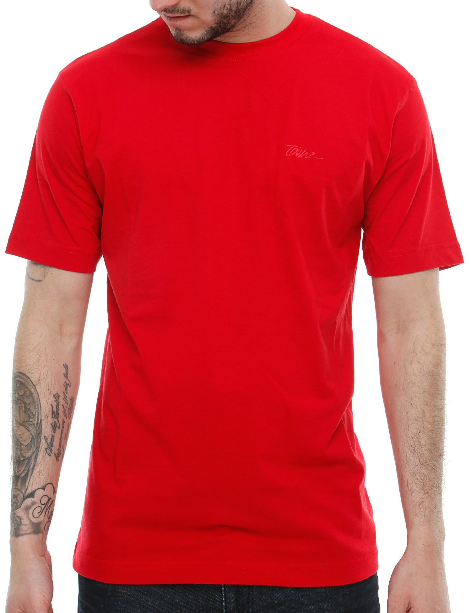 Townz Basic Emb  T-Shirt TNZ16-009 Red