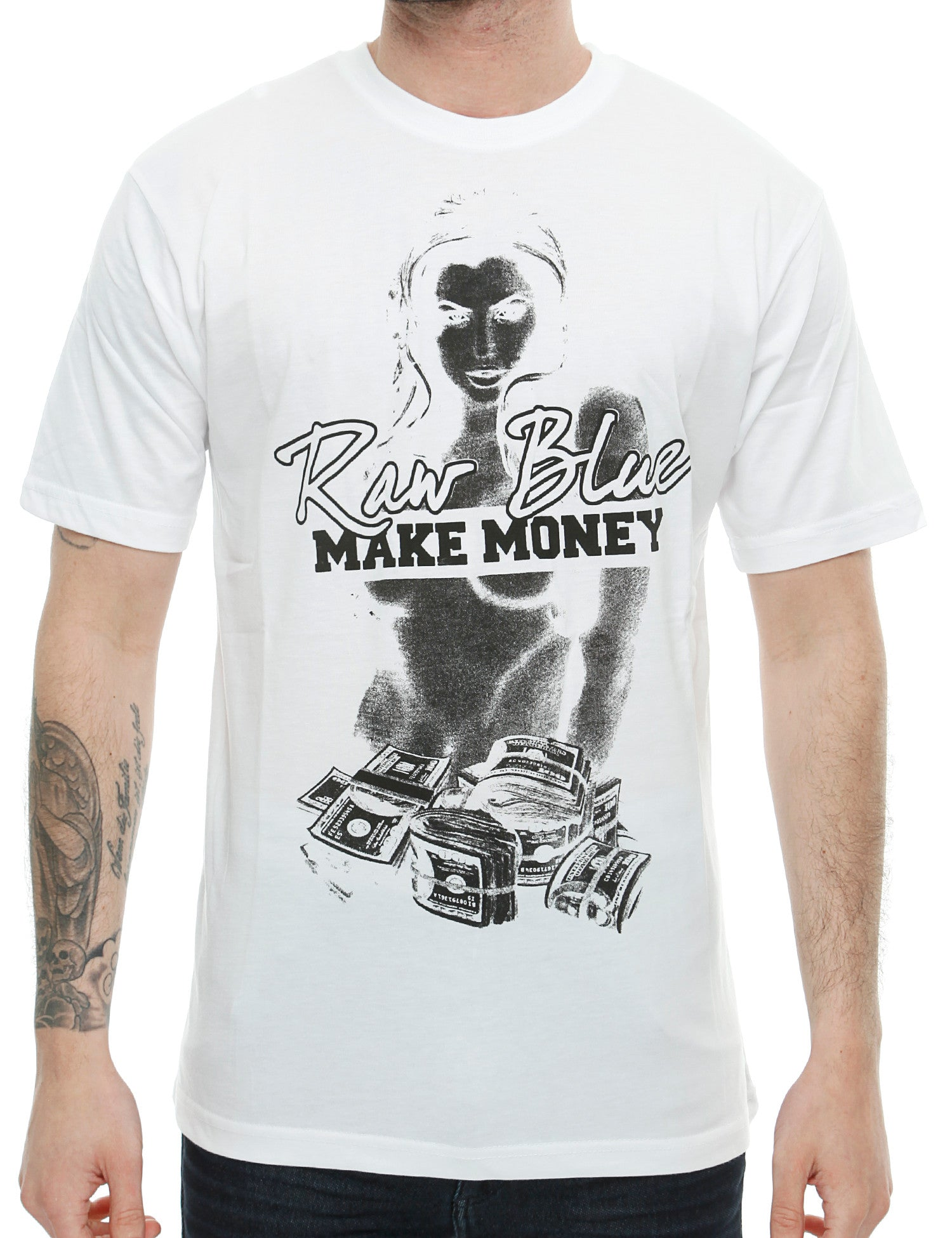 Raw Blue T-Shirt G-Money White