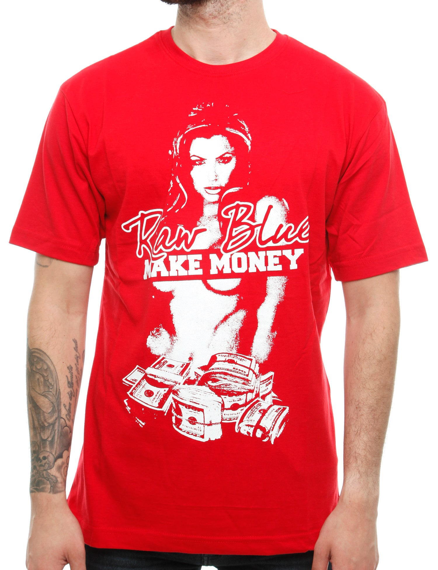 Raw Blue G-Money T-Shirt RB16-005 Red