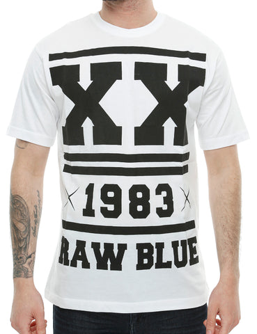 Raw Blue Double X T-Shirt RB16-008 White