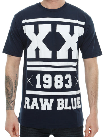 Raw Blue Double X T-Shirt RB16-008 Navy