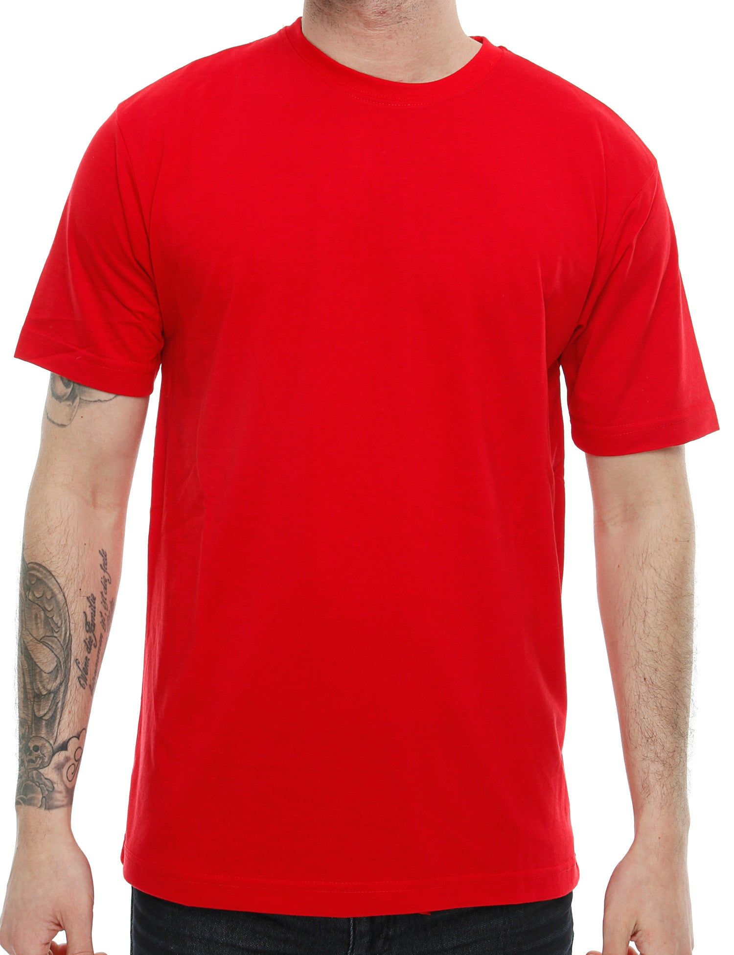 Raw Blue Solid Basic T-Shirt RB16-013 Red
