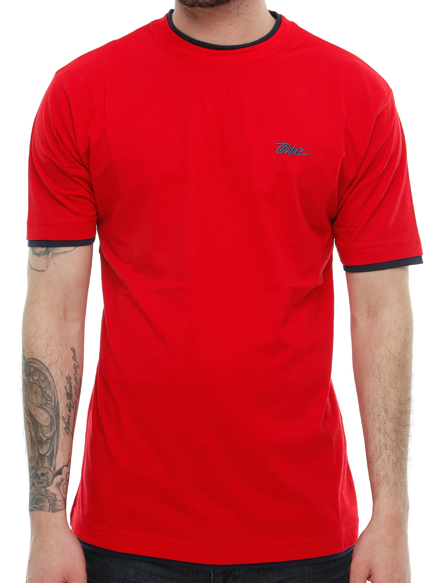Townz Basic Contrast T-Shirt TNZ16-010 Red