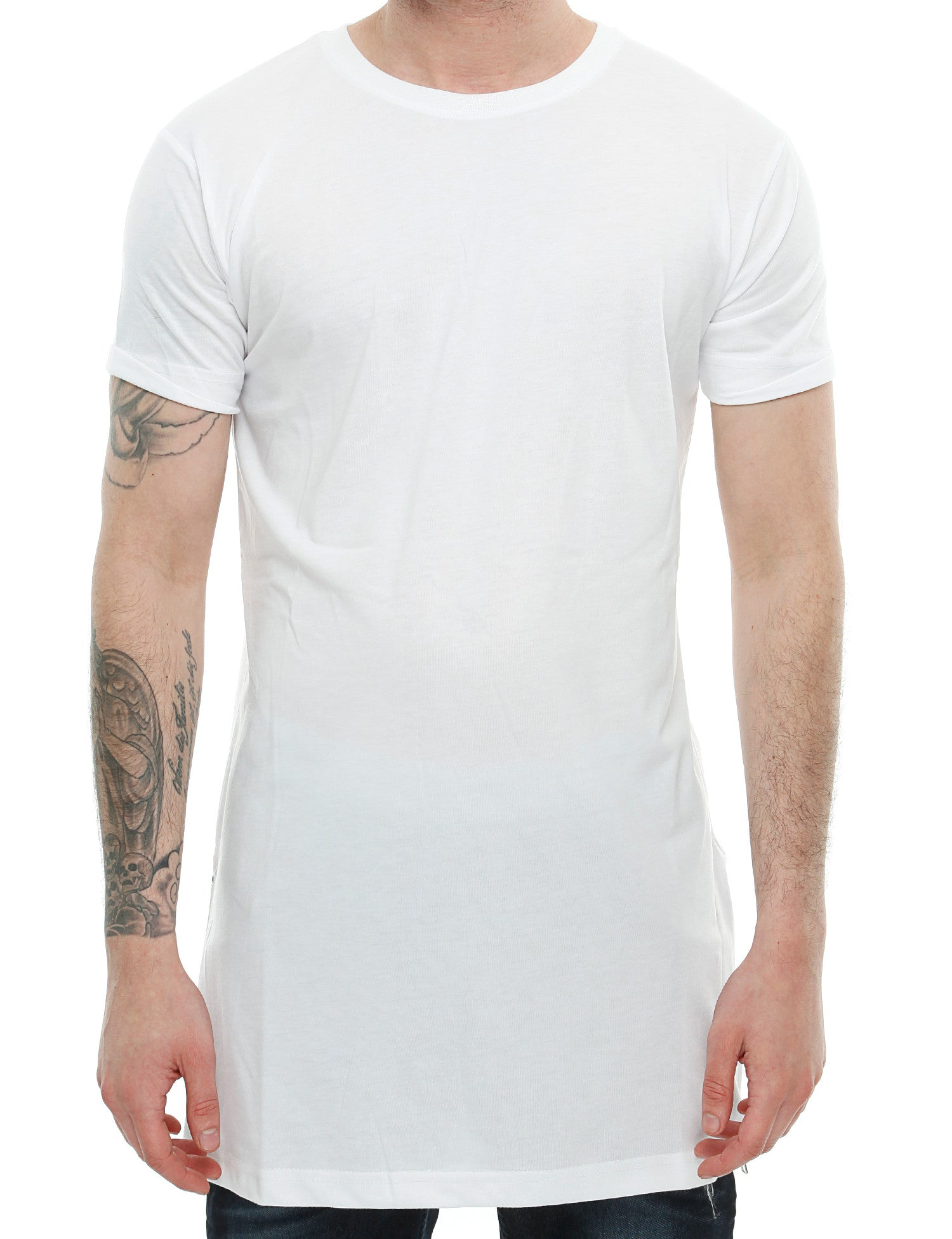 Townz Long Tee with Zipper TNZ16-011 White