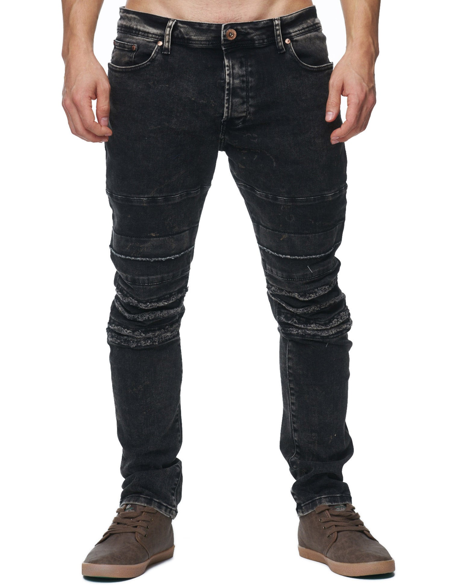 Free Side Gold Jeans Grey
