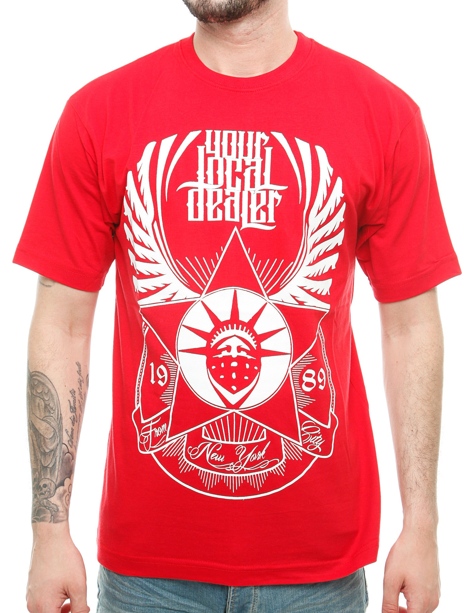 YLD Wings T-Shirt  YLD16-006_Red Red