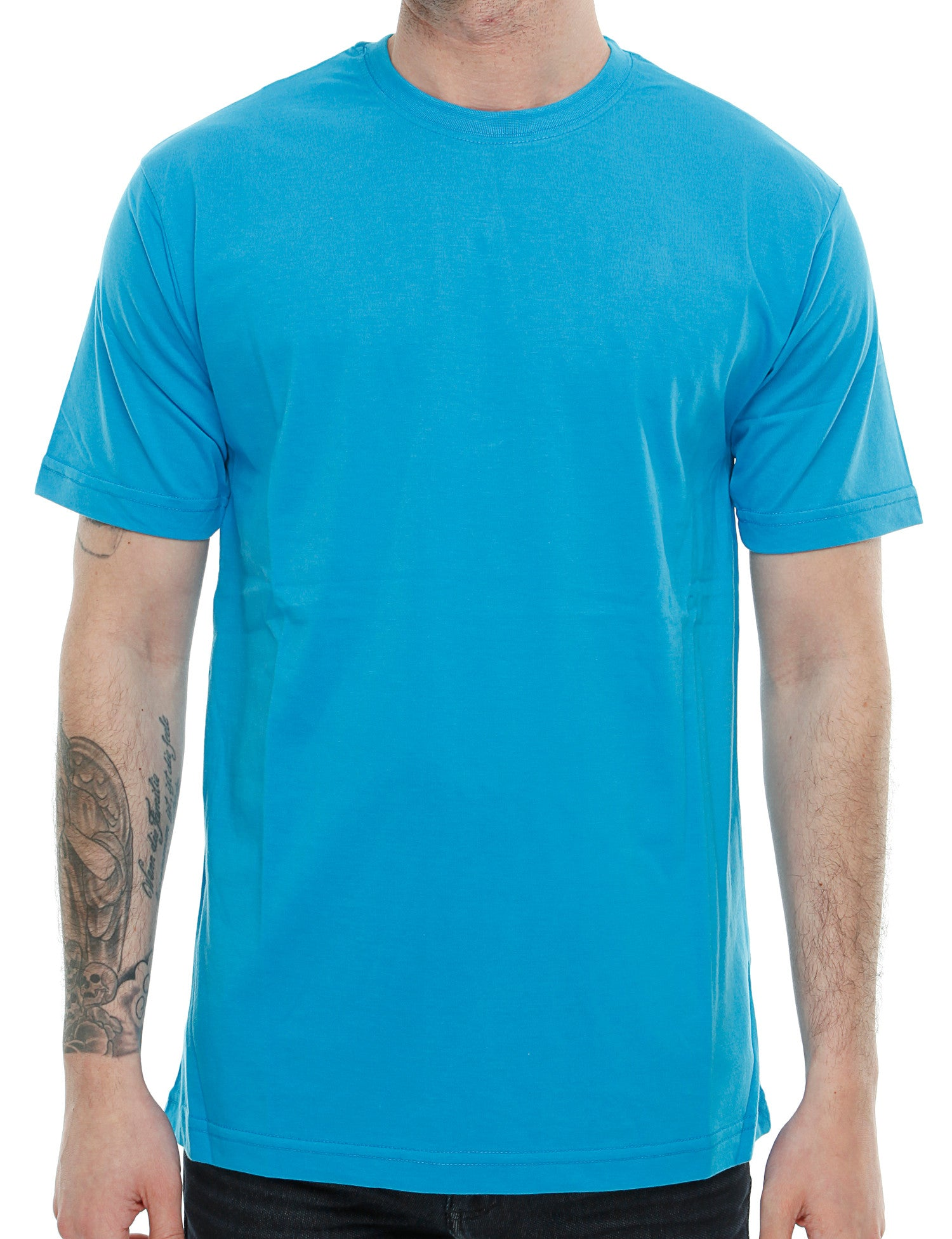 Raw Blue Solid Basic T-Shirt RB16-013 Blue