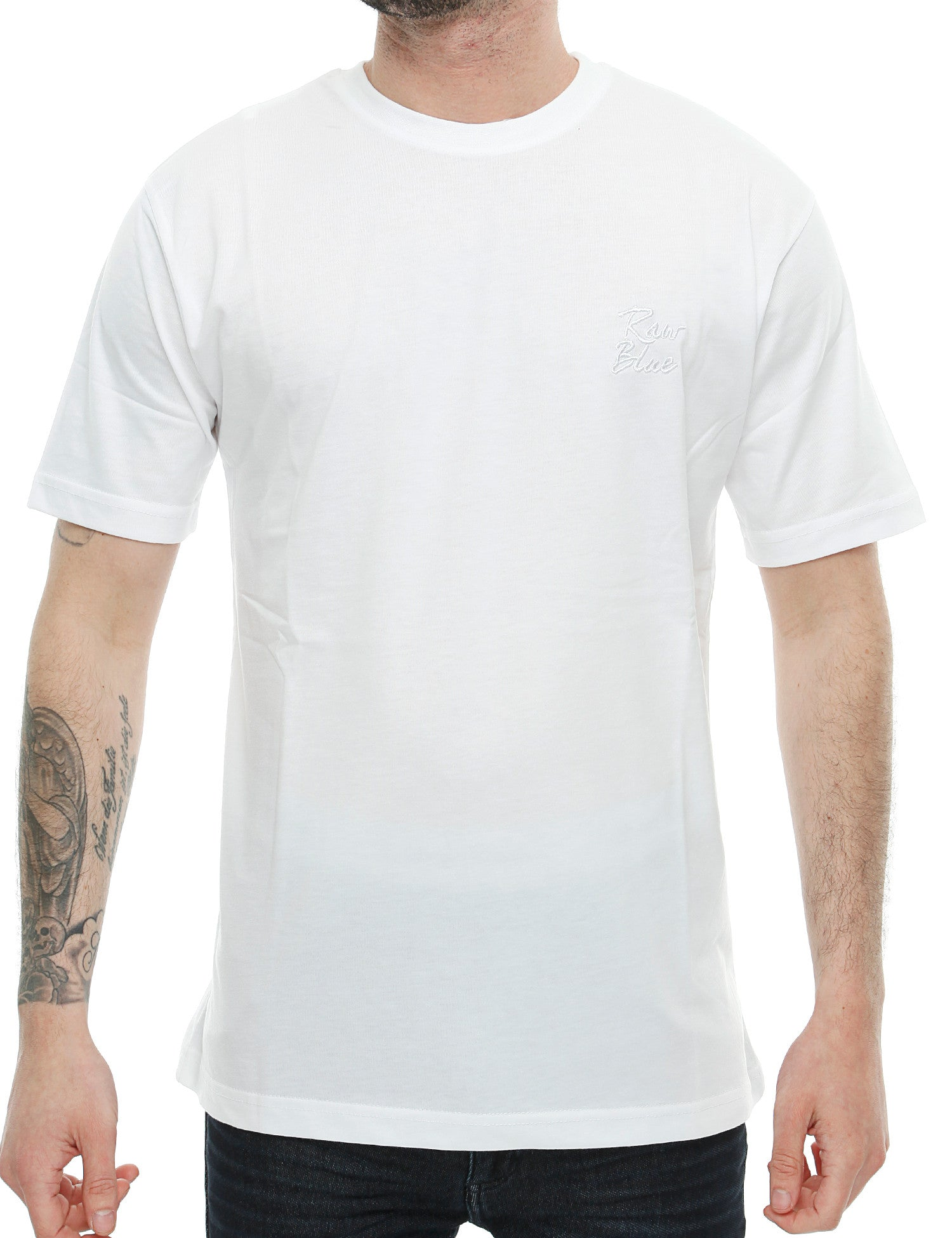 Raw Blue Basic Emb T-Shirt RB16-014 White