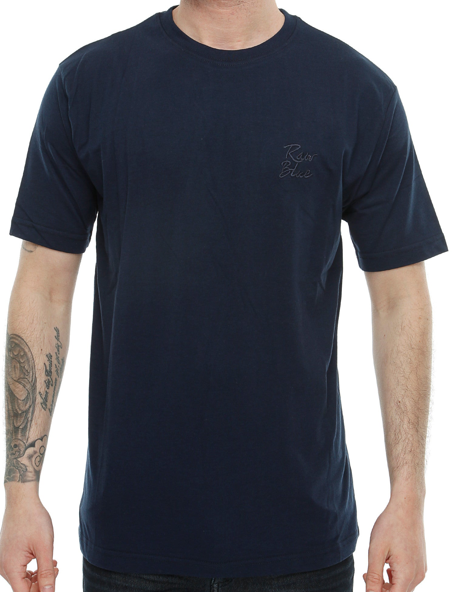 Raw Blue Basic Emb T-Shirt RB16-014 Navy