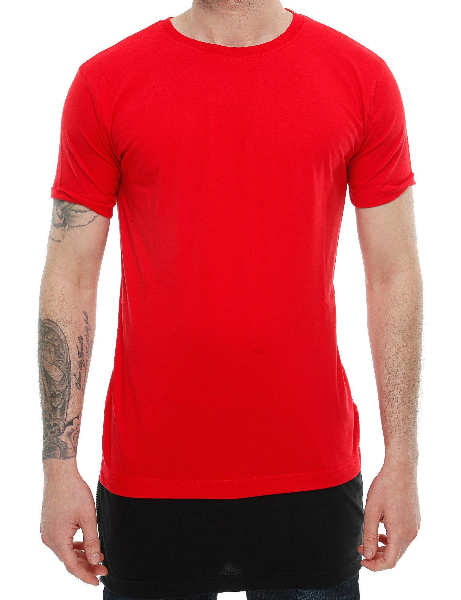 Townz Long Contract  Tee with Zipper TNZ16-013 Red