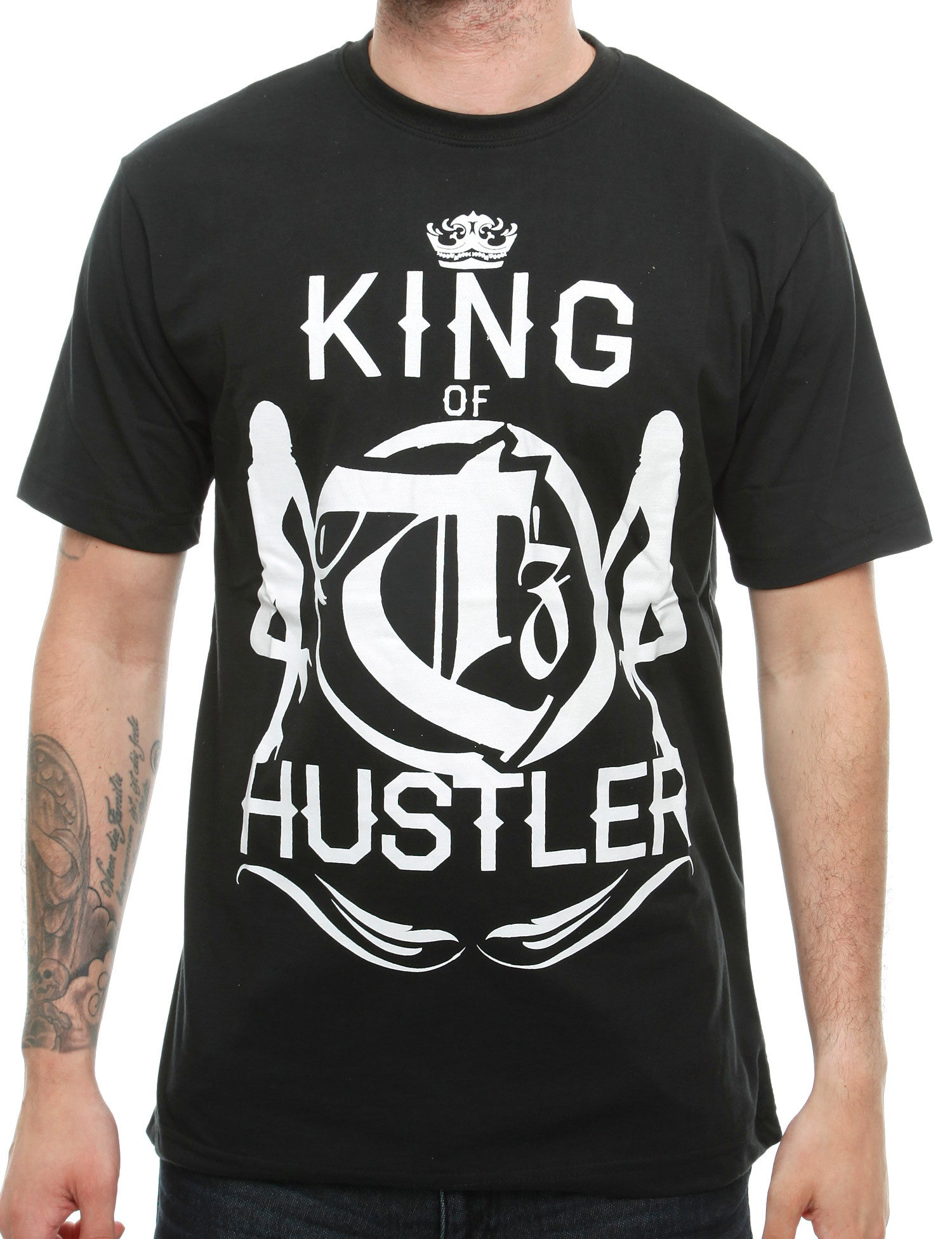 Townz King Hustle T-Shirt TNZ16-003 Black