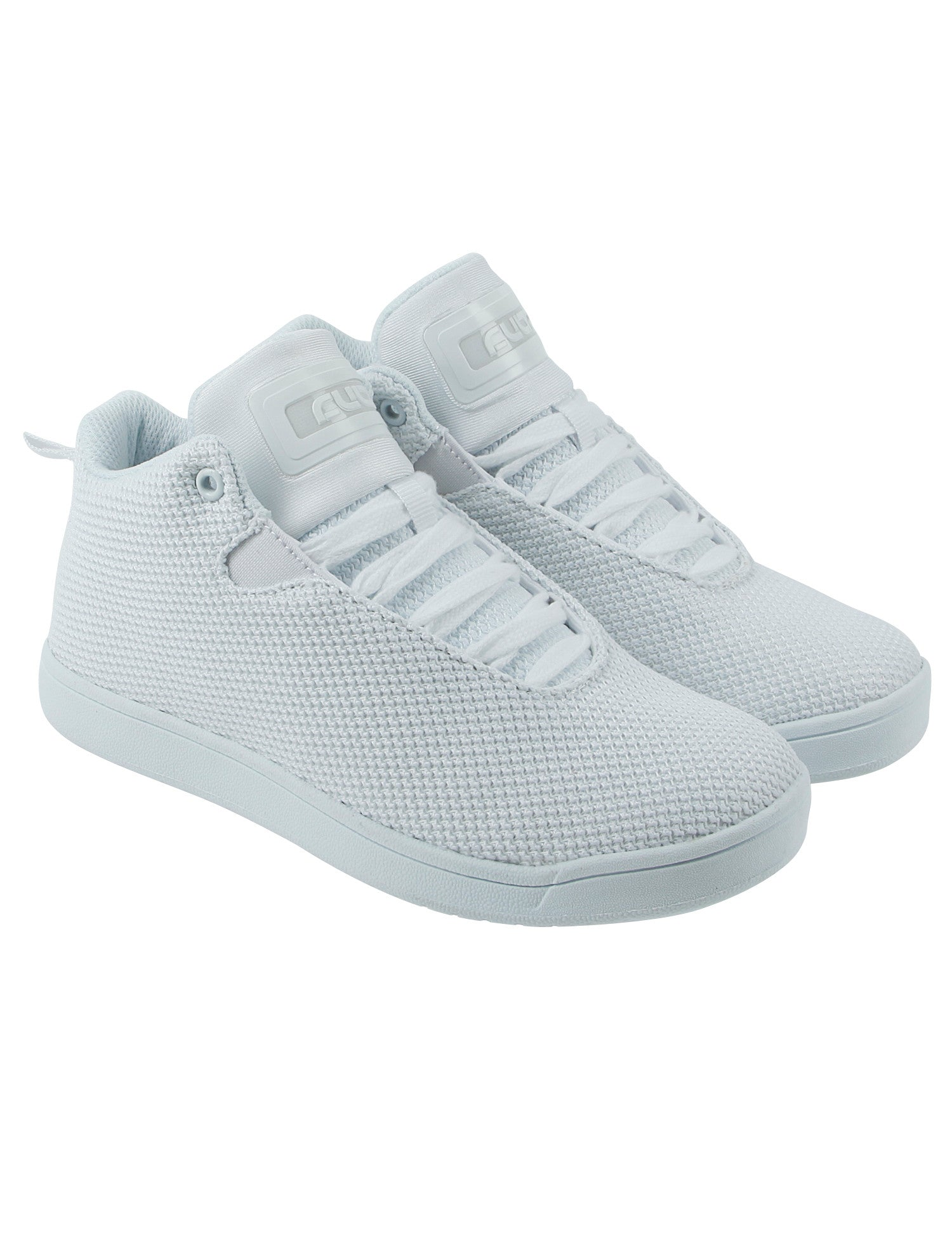 Cultz Mid Top Kids Shoes 150301-5W White