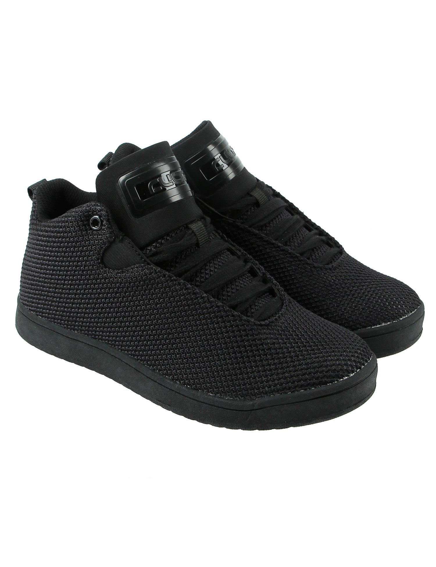 Cultz Mid Top Kids Shoes 150301-4W Black