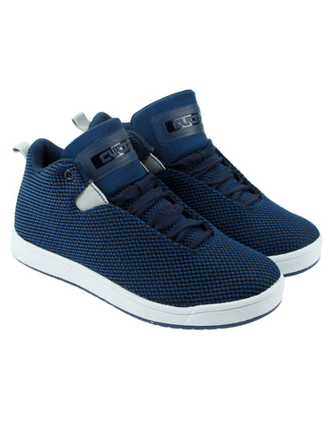 Cultz Mid Top Kids Shoes 150301-2W Navy