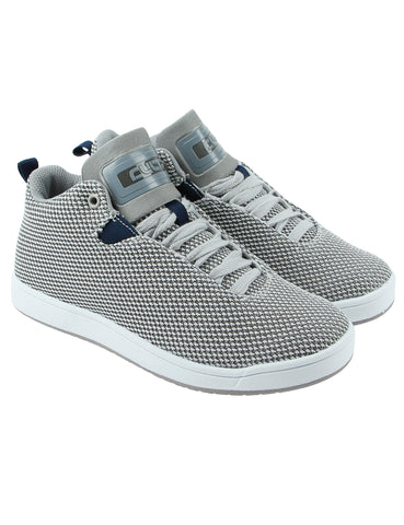 Cultz Mid Top Kids Shoes 150301-7W Grey
