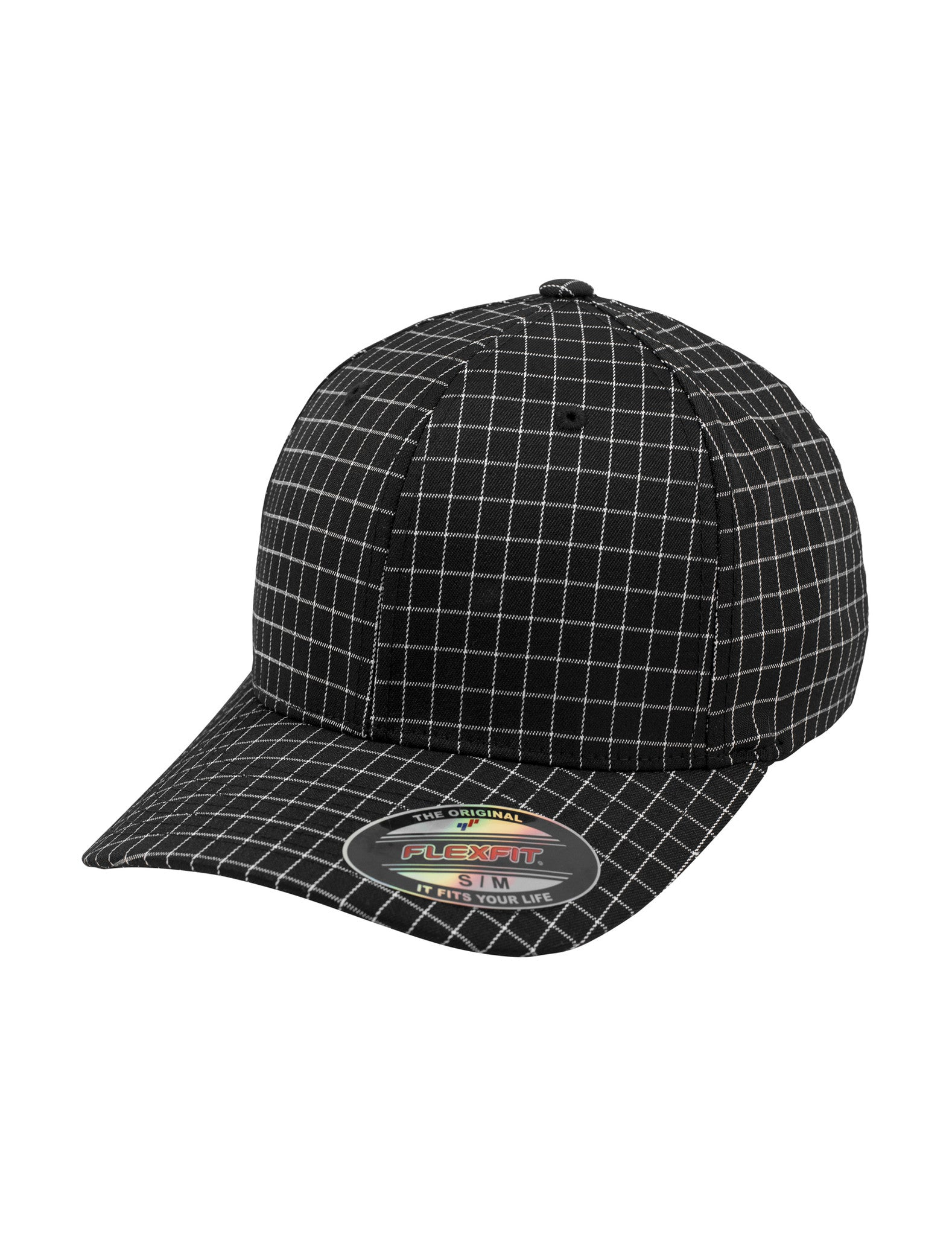 Flexfit Check Cap Black
