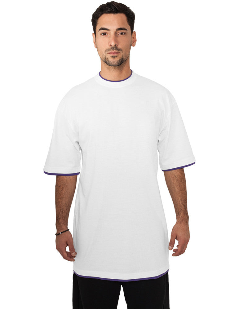 Contrast Tall Tee TB029A wht/pur White