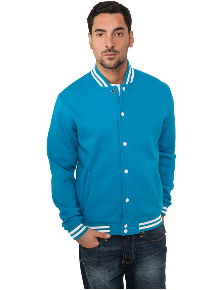 College Sweatjacket TB119 turquoise Turquoise