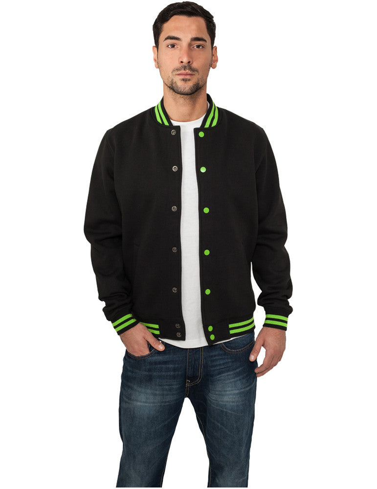 Contrast College Sweatjacket TB133 blk/lgr Black