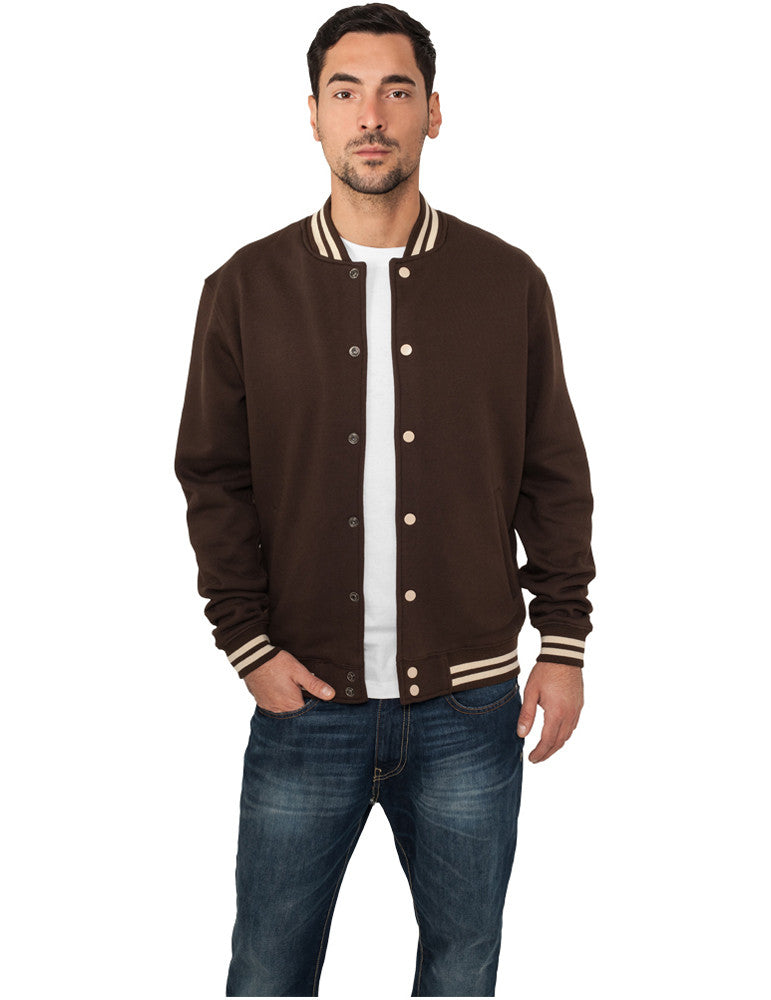 Contrast College Sweatjacket TB133 brn/bei Brown