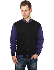 2-tone College Sweatjacket TB207 blk/pur Black