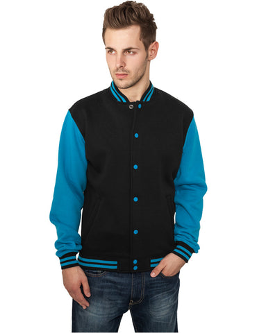 2-tone College Sweatjacket TB207 blk/tur Black