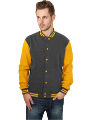 2-tone College Sweatjacket TB207 cha/ora Grey