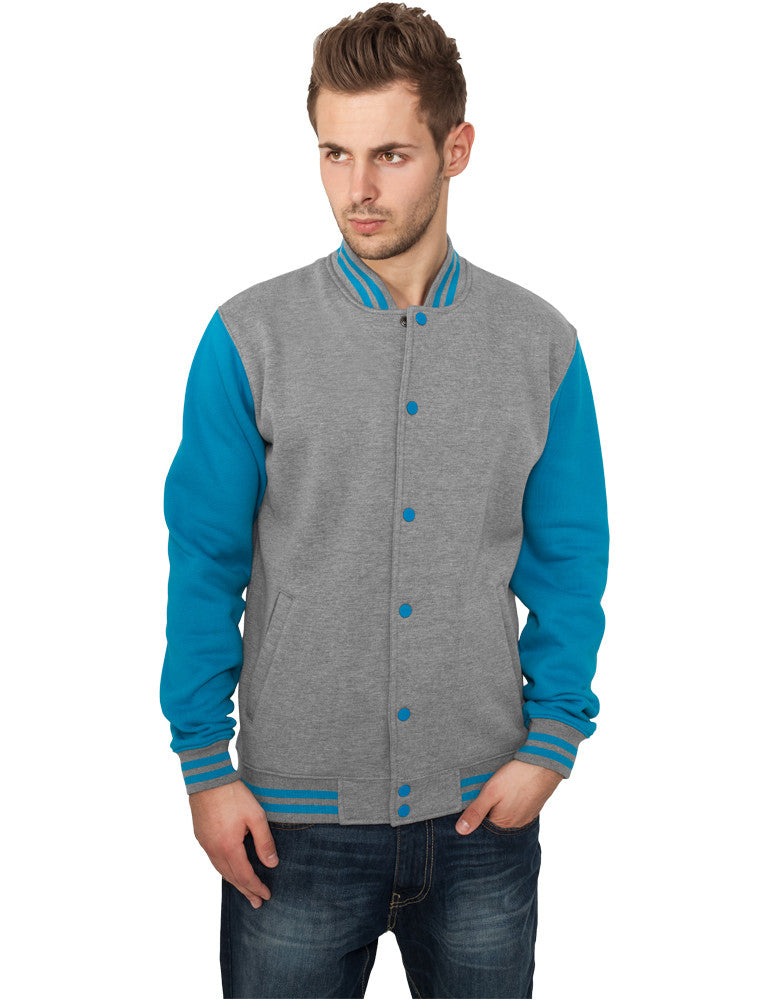 2-tone College Sweatjacket TB207 gry/tur Grey