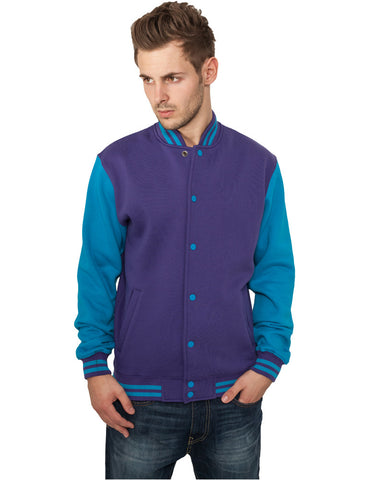 2-tone College Sweatjacket TB207 pur/tur Purple