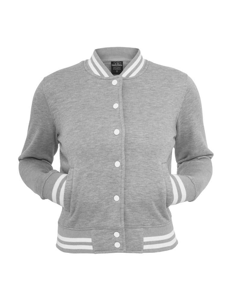 Ladies College Sweatjacket TB216 grey Grey
