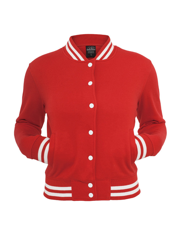 Ladies College Sweatjacket TB216 red Red