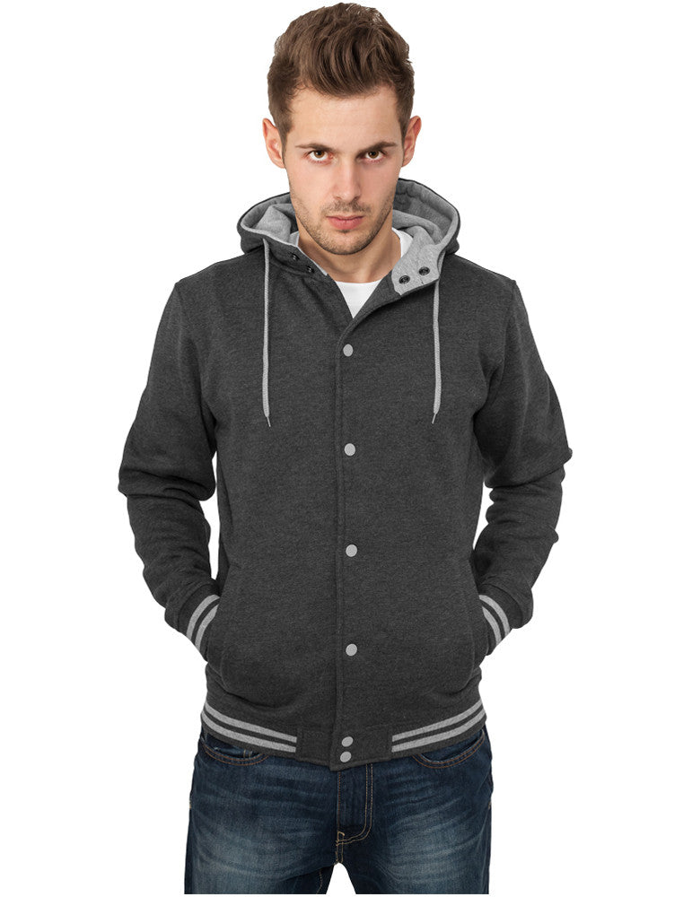 Hooded College Sweatjacket TB288 cha/gry Grey