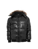 Hooded Bubble Fur Blouson TB341 black Black