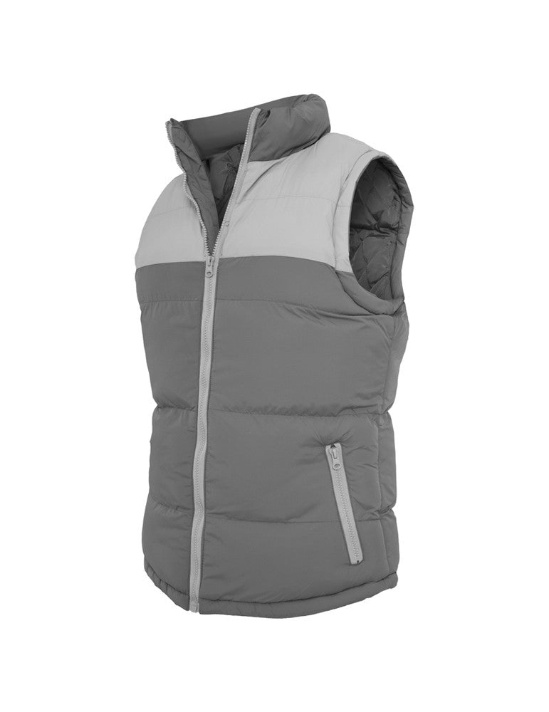 2-tone Bubble Vest TB346 cha/gry Grey