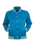 Ladies Shiny College Jacket TB349 tur/wht Turquoise