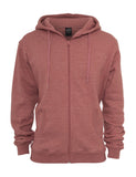 Melange Zip Hoody TB369 ruby Red