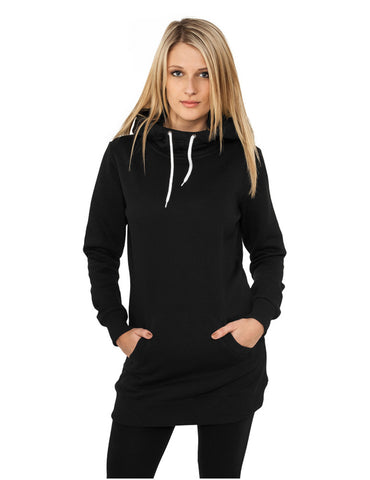 Ladies Long Sweat Hoody TB391 black Black