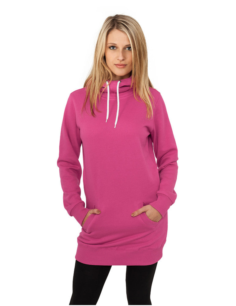 Ladies Long Sweat Hoody TB391 fuchsia Purple