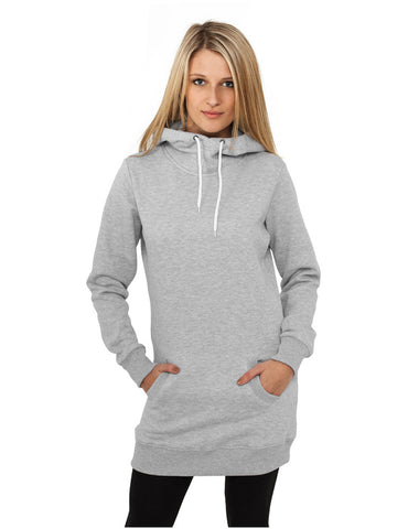 Ladies Long Sweat Hoody TB391 grey Grey