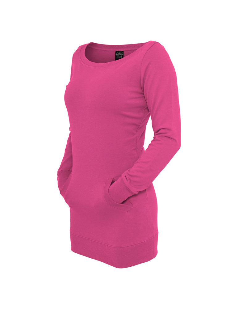 Ladies Long Crewneck TB392 fuchsia Purple