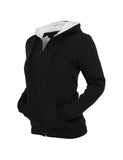 Ladies Winter Zip Hoody TB396 blk/wht Black