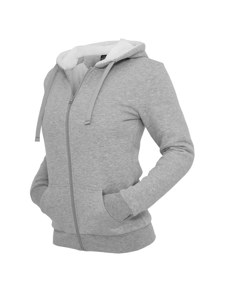 Ladies Winter Zip Hoody TB396 gry/wht Grey