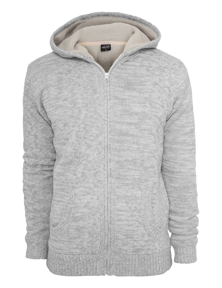 Winter Knit Zip Hoody TB408 wht/gry White