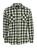 Tricolor Checked Light Flanell Shirt TB411 blkwhtlgr Black